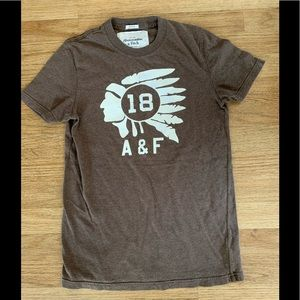 Abercrombie & Fitch Cocoa Brown Muscle Tee